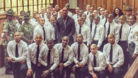 The Rock Congratulates Young Offenders At Boot Camp Graduation thumbnail