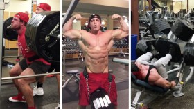Bradley Castleberry lifting weights. thumbnail