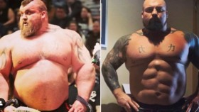 Eddie Hall Flexes Ridiculous Abs Transformation  thumbnail