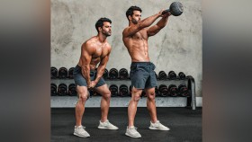 Man Doing Kettlebell Swings thumbnail