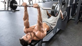 lying ez-bar triceps extension thumbnail