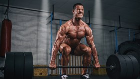 Muscular Men Lifting Heavy Weights, Dead Lift thumbnail