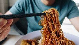 Man Eating Noodles thumbnail