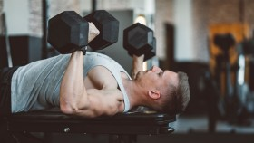 Man Dumbbell Bench Press  thumbnail