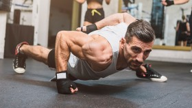 Man Doing One-arm Pushup thumbnail