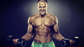 Man Screaming With Dumbbells thumbnail