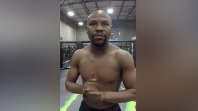 Watch: Mayweather Jr. Asks Ridiculous Rhetorical Question, While in an Octagon Again thumbnail