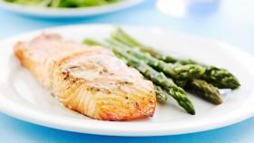 Miso Lemon Baked Salmon With Asparagus thumbnail