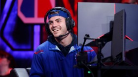 Newdini33, I F E A S T, and Steez of 76ers Gaming Club reacts during game against Magic Gaming on JUNE 22, 2018 at the NBA 2K League Studio Powered by Intel in Long Island City, New York.   thumbnail