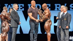 The Rock Stands With Mr. Olympia Champ Phil Heath thumbnail