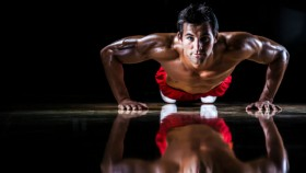man doing pushup Video Thumbnail