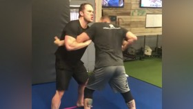 Chris Pratt Tussles With UFC Legend Randy Couture During Wrestling Session  thumbnail