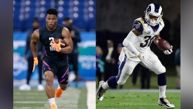 Watch: Saquon Barkley and Todd Gurley Do Next-Level Deadlift Box Jumps  thumbnail