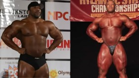 Shawn Rhoden Pittsburgh Pro and Bev Francis Atlantic States Guest Posing thumbnail