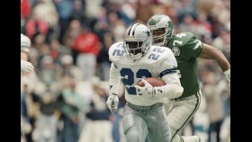 NFL Hall of Famer Emmitt Smith stays fit at 50 by cycling thumbnail