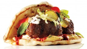 Spicy Flatbread Lamb Burger thumbnail