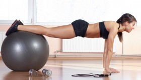 Woman Doing Stability Ball Exercise thumbnail