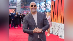 Dwayne Johnson at Rampage Film Premiere thumbnail