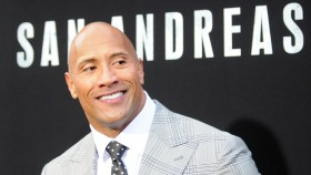 Actor Dwayne Johnson arrives for the Premiere Of Warner Bros. Pictures' 'San Andreas' held at TCL Chinese Theatre  thumbnail