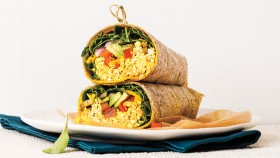 Tofu Avocado Scrambled Egg Wrap thumbnail