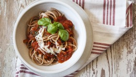 Whole Wheat Pasta and Sauce  thumbnail