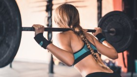 Woman Doing Back Squats thumbnail