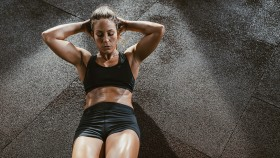 Woman Doing Crunches  thumbnail