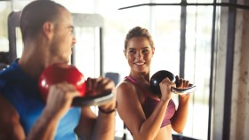 Young Couple Kettlebell Workout  thumbnail
