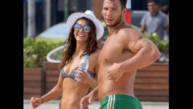 Nina Dobrev shows off her curves at the beach in Brazil thumbnail
