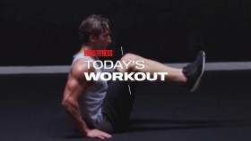 Man does reverse crunch exercise during ab workout thumbnail