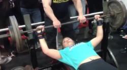 Teenage Girl Benches 265 RAW! Video Thumbnail