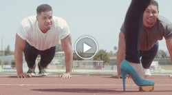 Watch the Hodge Twins Bench Press Pop Star Bonnie McKee Video Thumbnail