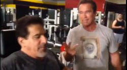 Schwarzenegger and Ferrigno Get Pumped at Golds Video Thumbnail