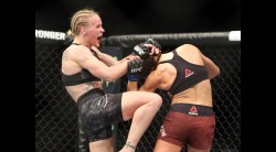 Valentina Shevchenko of Kyrgyzstan celebrates following her fight against Joanna Jedrzejczyk of Poland in a flyweight bout during the UFC 231 event at Scotiabank Arena on December 8, 2018 in Toronto, Canada. Video Thumbnail