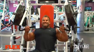 Jay Cutler Trains Chest and Triceps Video Thumbnail