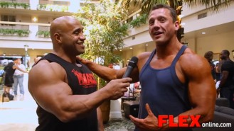 Dennis James Interviews Heavyweight Bodybuilder Kevin Libby at the 2014 USAs Video Thumbnail