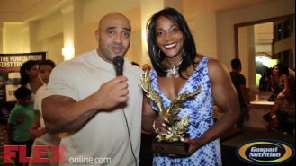 Bodybuilding Legend 8X Ms. Olympia Lenda Murray, at the 2014 Tampa Pro Video Thumbnail