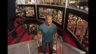 At the 2016 Olympia with The Rock Gallery Thumbnail