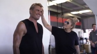 Dolph Lundgren Muscle & Fitness Behind the Scenes Video Thumbnail