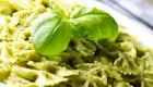 Farafalle pasta with pesto sauce