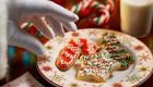 Santa Grabbing Christmas Cookies