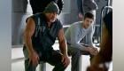 Bill Goldberg as Big Sir and Grant Gustin as Barry Allen