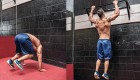 Burpee pullup combo exercise