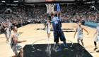 Harrison Barnes dunks during NBA game