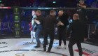 Conor McGregor in cage after fight