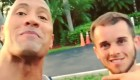 The Rock with cancer survivor