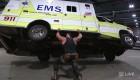 Braun Strowman Lifts Ambulance