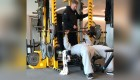 NFL Linebacker James Harrison Does Intense Stability Bench Press