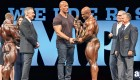 The Rock Stands With Mr. Olympia Champ Phil Heath