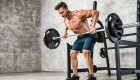 Man Doing Barbell Rows